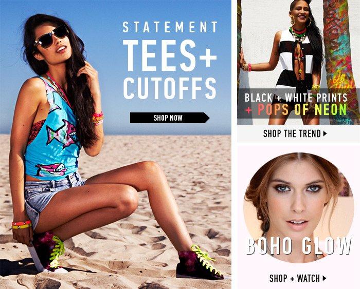 Tees & Crop Tops - Shop Now