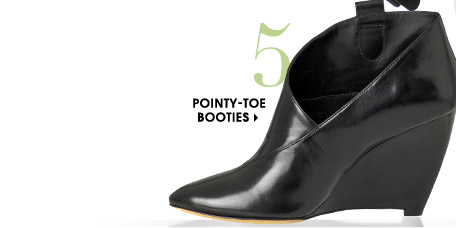 5. POINTY–TOE BOOTIES