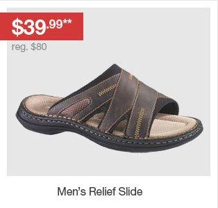 Men's Relief Slide - $39.99