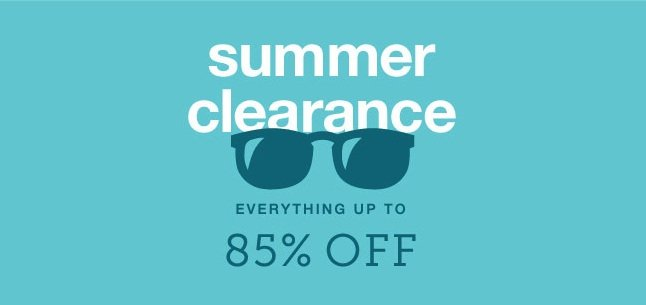 Summer Clearance up to 85% off