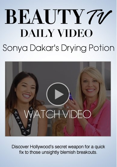 Sonya Dakar Drying Potion  Discover Hollywood's secret weapon for a quick fix to those unsightly blemish breakouts.   Watch Video>>
