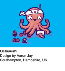 Octosushi - Design by Aaron Jay / Southampton, Hampshire, UK