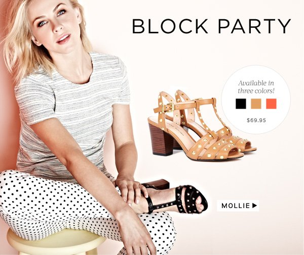 Block Party - A modern heel that's easy to wear. Shop Mollie