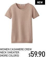 WOMEN CASHMERE V NECK SHORT SLEEVE SWEATER