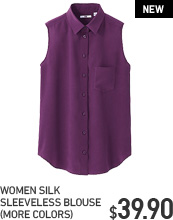 WOMEN SILK SLEEVELESS BLOUSE