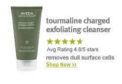 tourmaline charged exfoliating cleanser. shop now.
