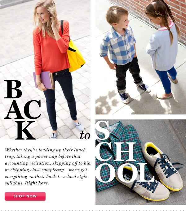 Back to School - Shop Now
