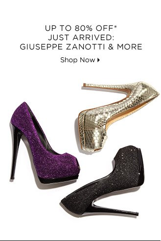 Up To 80% Off* Just Arrived: Giuseppe Zanotti & More
