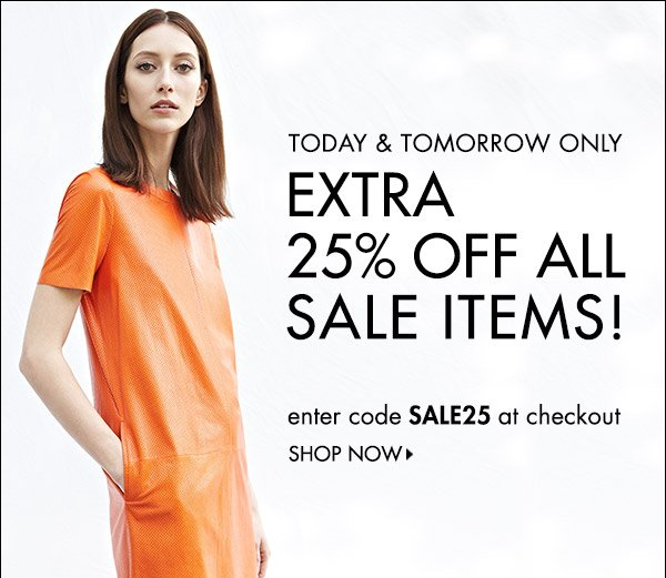 Take an extra 25% off sale with code SALE25. Offer ends Wednesday, July24, at 11:59pm PT. Code is valid on sale items only. Other restrictions may apply. See full terms and conditions at www.shopbop.com/sale25. Shop now >>