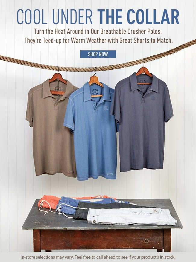 Shop Men's Polo's and Shorts