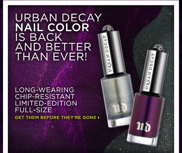 Urban Decay Nail Color Is Back And Better Than Ever! Get Them Before They're Gone >