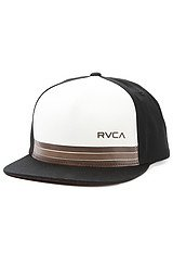 The Barlow Twill Snapback in Black and Natural