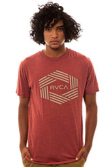 The Bar Hex Tee in Brick Red