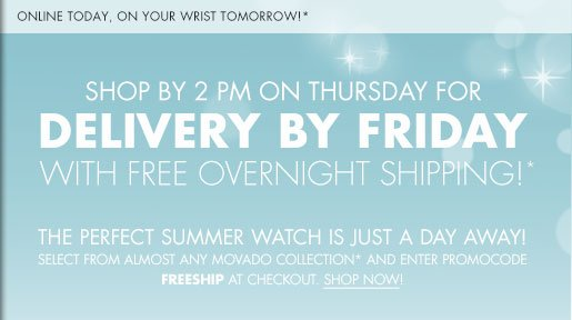 SHOP BY 2 PM ON THURSDAY FOR DELIVERY BY FRIDAY WITH FREE OVERNIGHT SHIPPING!*