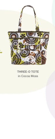 Three-O Tote in Cocoa Moss