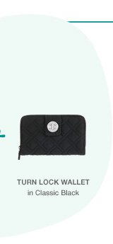 Turn Lock Wallet in Classic Black