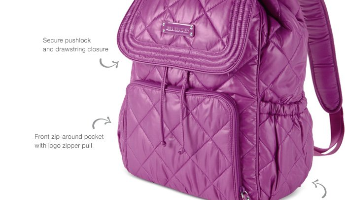 Puffy Backpack in Berry