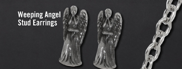 WEEPING ANGEL STUD EARRINGS