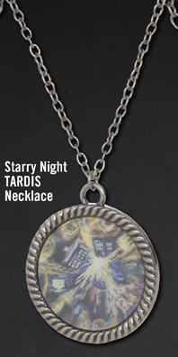 STARRY NIGHT TARDIS NECKLACE