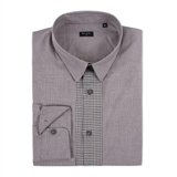 Houndstooth Contrast Placket Shirt