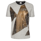 Grey Melange Triangle Print T-Shirt