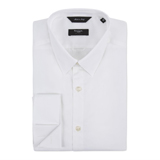 White Byard Shirt, Double Cuff