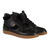 Black Leather Dreyfuss Trainers
