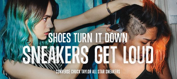 SHOES TURN IT DOWN SNEAKERS GET LOUD | CONVERSE CHUCK TAYLOR ALL STAR SNEAKERS