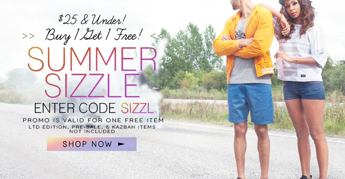 Click to shop the Summer Sizzle: All Under $25 Items are Buy 1, Get 1!