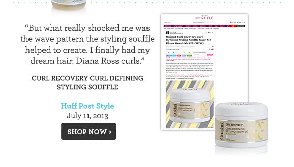But what really shocked me was the wave pattern the styling souffle helped to create. I finally had my dream hair: Diana Ross curls. Curl Recovery Curl Defining Styling Souffle Huff Post Style July 11, 2013