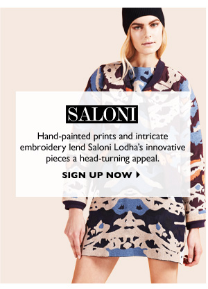 SALONI - SIGN UP NOW