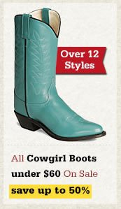 All Cowgirl Boots Under 60 on Sale