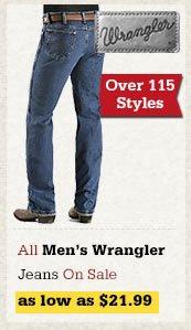 All Mens Wrangler Jeans on Sale