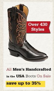 All Mens Handcrafted in the USA Boots on Sale
