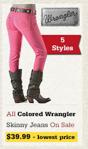 All Colored Wrangler Skinny Jeans on Sale