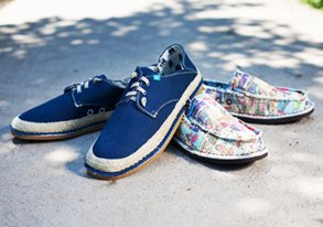 Shop Freewaters: Patterned Canvas Shoes