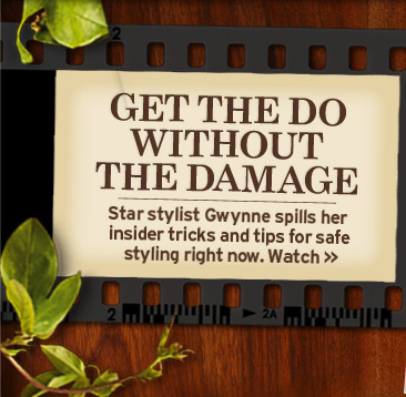 GET  THE DO WITHOUT THE DAMAGE Star stylist Gwynne spills her insider tricks  and tips for safe styling right now Watch