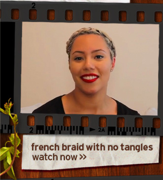 french braid with no tangles watch now