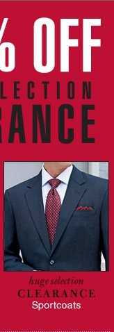 Extra 50% OFF - Clearance Sportcoats