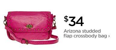 $34 Arizona studded flap crossbody bag›