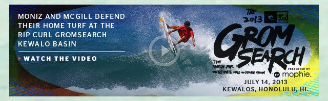 GromSearch - July 24, Kewalo's, Honolulu, HI. - Moniz and McGill Defend Their Home Turf at the Rip Curl GromSearch Kewalo Basin - Watch The Video