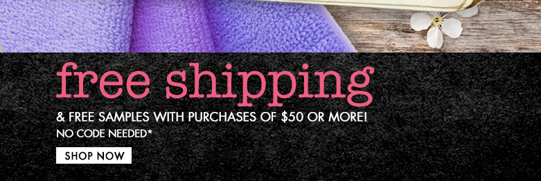 freeshipping and freesamples with purchases of $50 or more