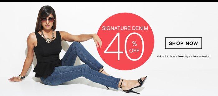 40% OFF Signature Denim