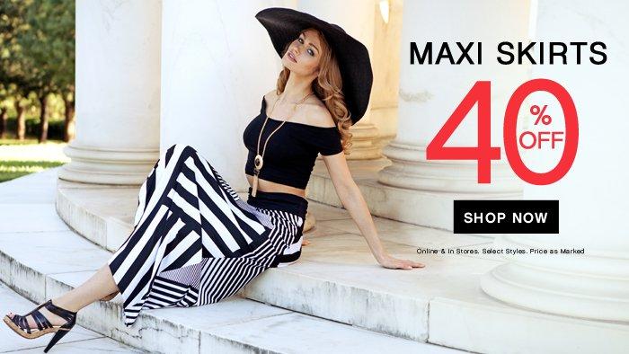 40% OFF Maxi Skirts