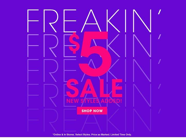 Shop $5 Sale