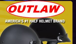 Outlaw T-70 Half Helmet - From $29.95!