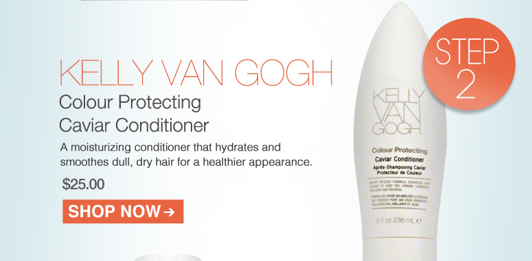 KELLY VAN GOGH Colour Protecting Caviar Conditioner A moisturizing conditioner that hydrates and smoothes dull, dry hair for a healthier appearance. $25.00 Shop Now>>