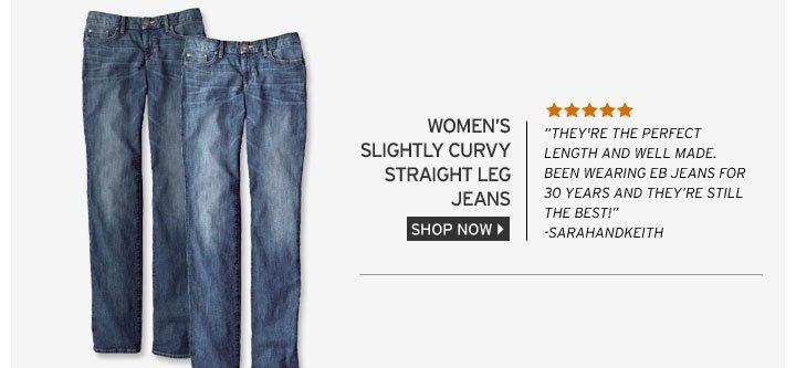 Slightly Curvy Straight Leg Jeans