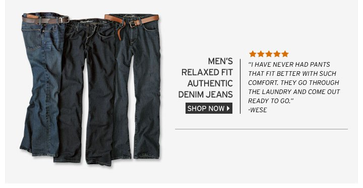 Relaxed Fit Authentic Denim Jeans