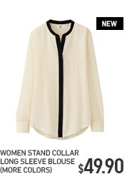 WOMEN STAND COLLAR BLOUSE
